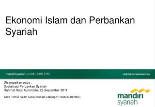 Ekonomi Islam dan Perbankan Syariah