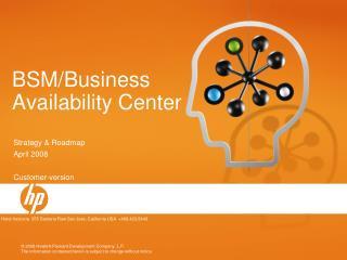 BSM/Business Availability Center