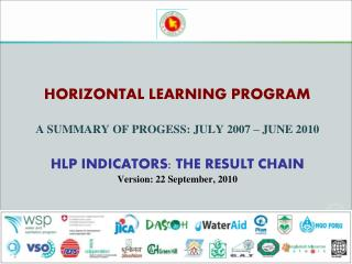 HLP: LEARNING OBJECTIVE FOR THE PERIOD JULY 2007 – JUNE 2010