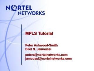 MPLS Tutorial