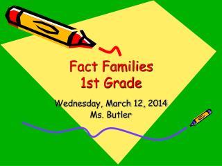 Fact Families 1st Grade