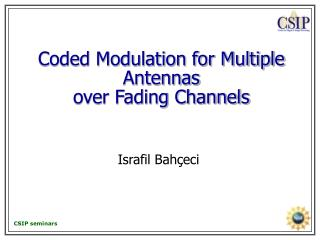 Coded Modulation for Multiple Antennas  over Fading Channels