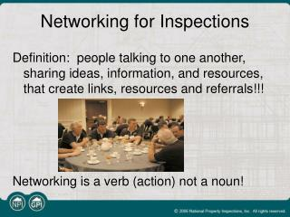Networking for Inspections
