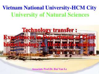 Vietnam National University-HCM City University of Natural Sciences