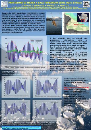 PREVISIONE DI MAREA A BAIA TERRANOVA (BTN, Mare di Ross)