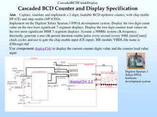 Cascaded BCD Counter and Display Specification