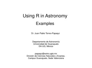 Using R in Astronomy