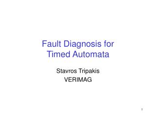 Fault Diagnosis for Timed Automata