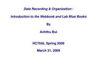 HC70AL Spring 2009