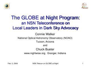 The GLOBE at Night Program: