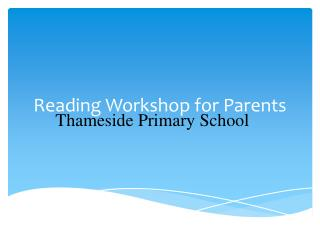 Reading Workshop for Parents