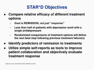 STAR*D Objectives