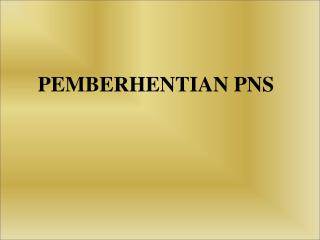 PEMBERHENTIAN PNS