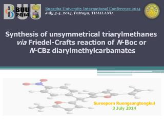 Synthesis of unsymmetrical  triarylmethanes via Friedel -Crafts reaction of  N - Boc  or