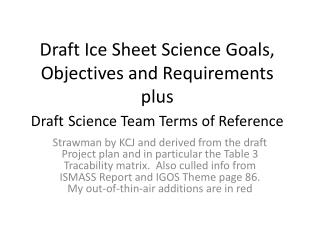 OIB Ice Sheet Program Goals