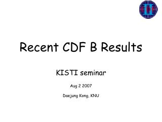 Recent CDF B Results