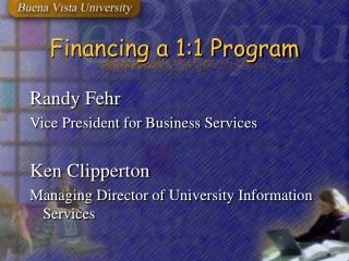 Financing a 1:1 Program