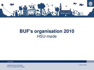 BUF's organisation 2010 HSU-møde