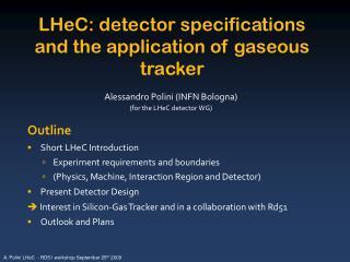 Alessandro Polini (INFN Bologna) (for the LHeC detector WG)