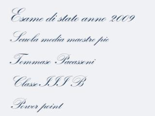 Esame di stato anno 2009