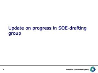 Update on progress in SOE-drafting group