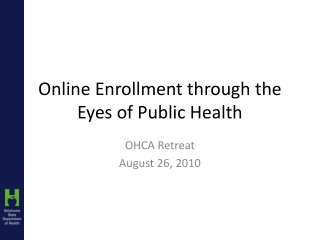 Enrollment:  Steps in the  Process June 9, 2009