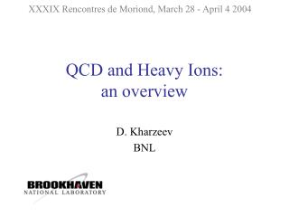 QCD and Heavy Ions: an overview