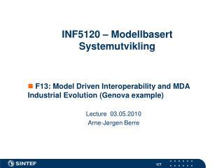 INF5120 – Modellbasert Systemutvikling