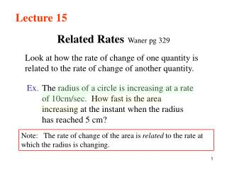 Related Rates Waner pg 329