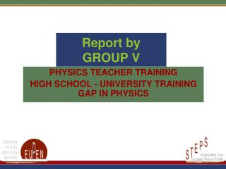 Report by GROUP V