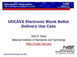 UOCAVA Electronic Blank Ballot Delivery Use Case