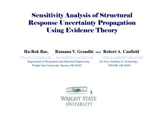 Sensitivity Analysis of Structural Response Uncertainty Propagation Using Evidence Theory