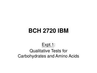 BCH 2720 IBM