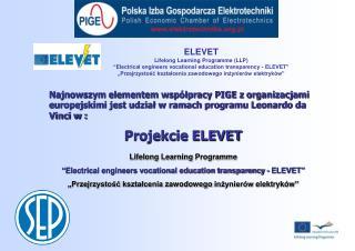 Projekcie ELEVET
