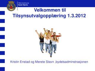Velkommen til Tilsynsutvalgoppl�ring 1.3.2012