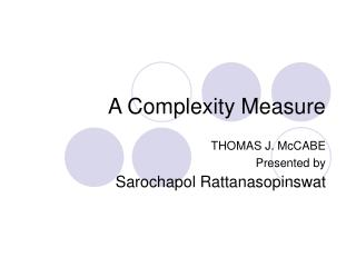 A Complexity Measure