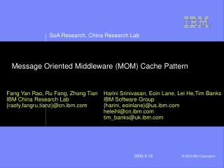 Message Oriented Middleware MOM Cache Pattern