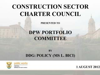 CONSTRUCTION SECTOR CHARTER COUNCIL