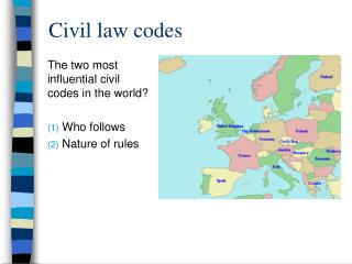 Civil law codes