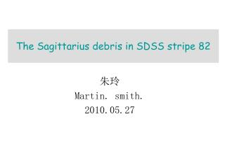 The Sagittarius debris in SDSS stripe 82