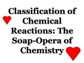 Classification of Chemical Reactions: The Soap-Opera of Chemistry