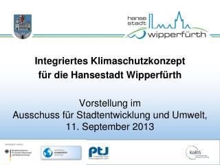Integriertes Klimaschutzkonzept  für die Hansestadt Wipperfürth