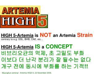 HIGH 5-Artemia IS a CONCEPT 비브리오균의 억제 ,  초 고밀도 부화 이보다  더 난각 분리가 잘 될수는 없다 개구 전에 동시에 부화를 하는 기적 !!