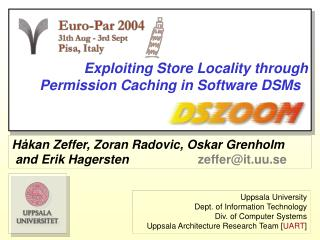 Exploiting Store Locality through Permission Caching in Software DSMs