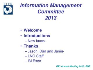 Information Management Committee 2013
