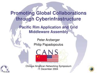 Promoting Global Collaborations through Cyberinfrastructure