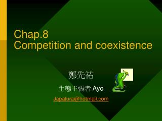 Chap.8    Competition and coexistence