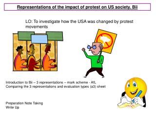 Representations of the impact of protest on US society. Bii