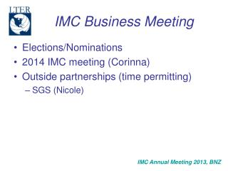 IMC Business Meeting