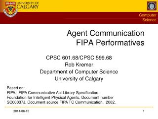 Agent Communication FIPA Performatives